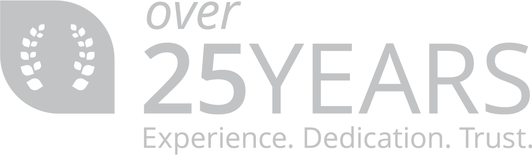 25 Years. Experience. Dedication. Trust.