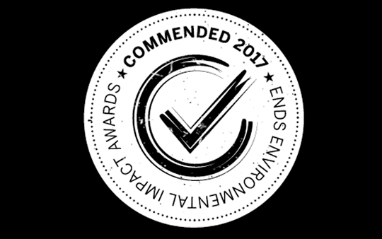 Carbon2018 commended by ENDS Environmental Impact Awards 2017