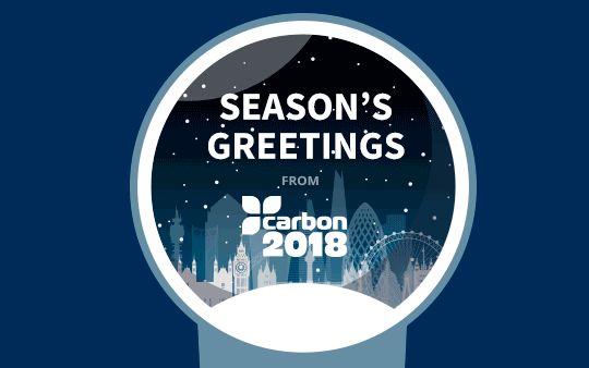 Season's Greetings from  Carbon2018 – Opening Hours