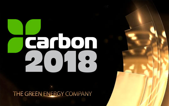 Carbon2018 takes the green energy company award at TELCA 2018