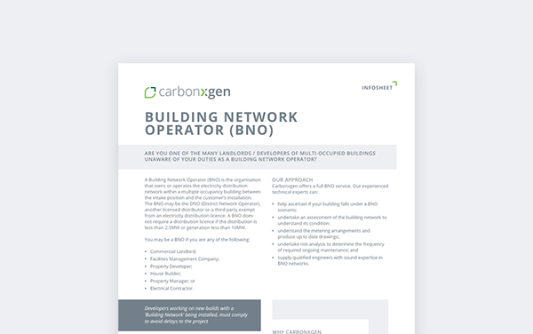 Building Network Operator (BNO)