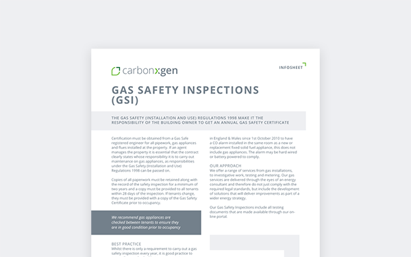 Gas Safety Inspections (GSI)