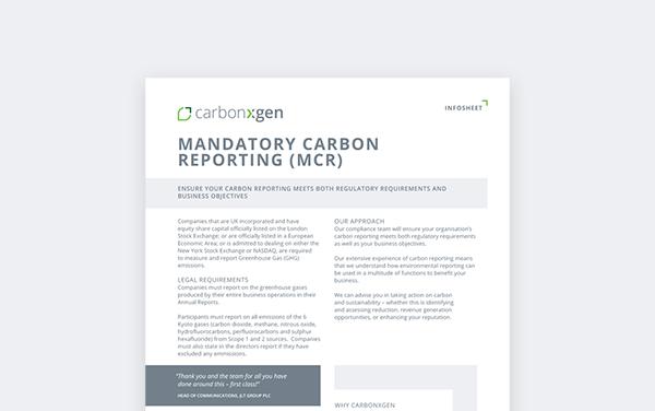 Mandatory Carbon Reporting (MCR)