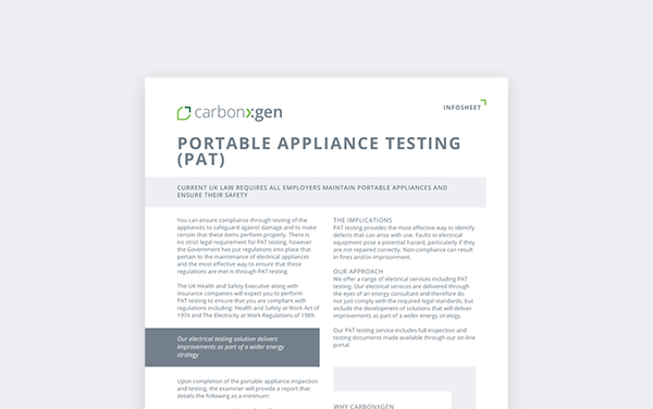Portable appliance testing (PAT)