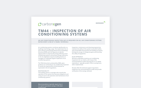 TM44 Air Conditioning Inspections (ACI)