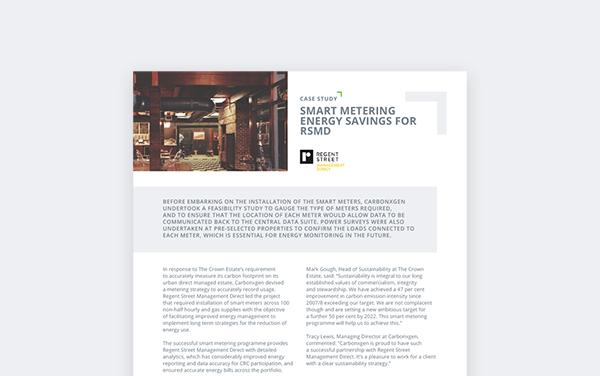Smart Metering Energy Savings For RSMD